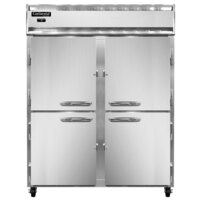 Continental Refrigerator 2FEN-SS-HD 57 inch Half Door Extra Wide Reach-In Freezer - 50 Cu. Ft.