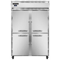 Continental Refrigerator 2FSN-SS-HD 52 inch Half Door Shallow Depth Reach-In Freezer - 32 Cu. Ft.