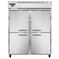 Continental Refrigerator 2FESN-HD 57 inch Half Door Extra Wide Shallow Depth Reach-In Freezer - 40 Cu. Ft.