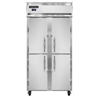Continental Refrigerator 2FSEN-SS-HD 36 1/4 inch Solid Half Door Slim Line Reach-In Freezer - 30 cu. ft.