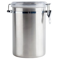 2 Qt. Stainless Steel Ingredient Storage Canister with Clear Plastic Lid