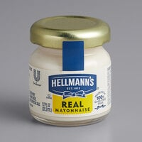 Hellmann's Real Mayonnaise 1.2 oz. Mini Jars - 72/Case