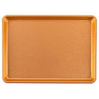 Chicago Metallic 40940 Textured Gold 9 1/2 inch x 13 inch Bakery Display Tray