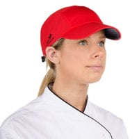 Headsweats Red Customizable 5-Panel Chef Cap with Eventure Fabric and Terry Sweatband
