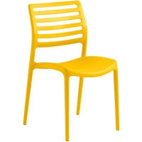 Lancaster Table & Seating Allegro Yellow Resin Side Chair