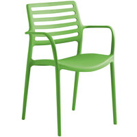 Lancaster Table & Seating Allegro Pistachio Stackable Resin Arm Chair