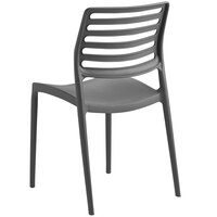 Lancaster Table & Seating Allegro Charcoal Stackable Resin Side Chair