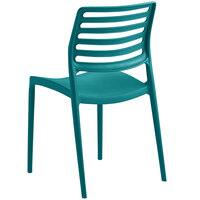 Lancaster Table & Seating Allegro Teal Resin Side Chair