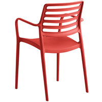 Lancaster Table & Seating Allegro Red Stackable Resin Arm Chair