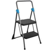 Cosco 11829GGB Commercial Gray 2-Step Folding Step Stool