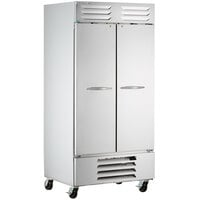 Beverage-Air FB35HC-1S 40 inch Vista Series Two Section Solid Door Reach-In Freezer