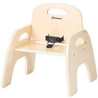 Foundations 4809047 Simple Sitter 9 inch Natural Wood Feeding Chair