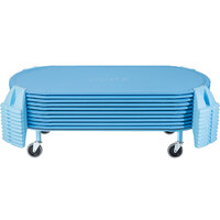 Foundations 4631037 PODZ 53 inch x 26 inch x 8 inch Blue Mobile Standard Cot Carrier