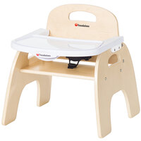 Foundations 4709047 Easy Serve 9 inch Natural Wood Feeding Chair with EasyClean Adjustable Tray