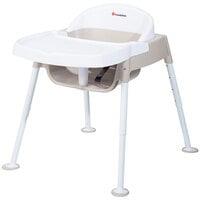 Foundations 4600247 Secure Sitter Premier 7 inch-13 inch White / Tan Height Adjustable Feeding Chair with Non-Slip Feet