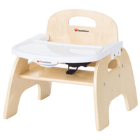 Foundations 4707047 Easy Serve 7 inch Natural Wood Feeding Chair with EasyClean Adjustable Tray