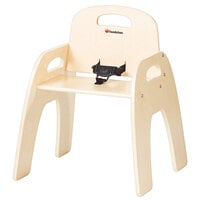 Foundations 4803047 Simple Sitter 13 inch Natural Wood Feeding Chair