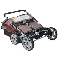 Foundations 4140167 LX4 4-Passenger EarthScape Canopy Stroller with SafeBrake System and Storage Basket