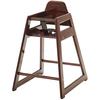 Foundations 4522856 NeatSeat Stackable Hardwood High Chair with Antique Cherry Finish - Unassembled