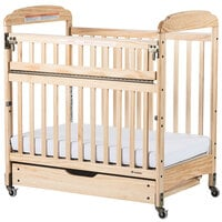 Foundations 4036042 EZ Store Natural Wood Sliding Crib Drawer with MagnaSafe Latch for Serenity Compact Cribs