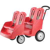 Foundations 4142079 Gaggle Parade 4-Passenger Red Daycare Buggy with 5-Point Harnesses, and EasyLoad Steps