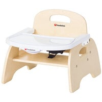 Foundations 4705047 Easy Serve 5 inch Natural Wood Feeding Chair with EasyClean Adjustable Tray