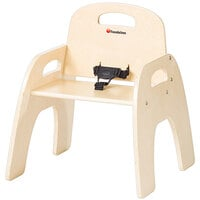 Foundations 4801047 Simple Sitter 11 inch Natural Wood Feeding Chair