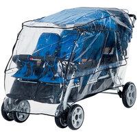 Foundations 8061196 72 1/2 inch x 34 inch x 42 inch Transparent Vinyl Rain Shield for LX6 6-Passenger Stroller