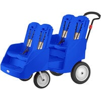 Foundations 4142039 Gaggle Parade 4-Passenger Blue Daycare Buggy with 5-Point Harnesses, and EasyLoad Steps