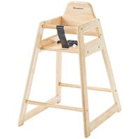 Foundations 4522046 NeatSeat Stackable Hardwood High Chair with Natural Finish - Unassembled