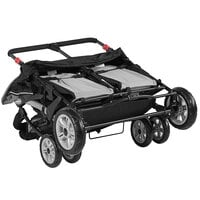Foundations 4141339 Quad Sport 4-Passenger Gray / Black Stroller with Dual Canopy, 5-Point Harnesses, and Storage Basket