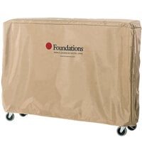 Foundations 4012156 Crib Saver Tan Heavy-Duty Nylon Crib Cover for Full Size Travel Sleeper, HideAway, and Royale Cribs