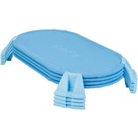Foundations 4614037 PODZ 42 5/16 inch x 27 3/16 inch x 5 inch Blue Ergonomic Stackable Cot Set - Toddler - 4/Pack