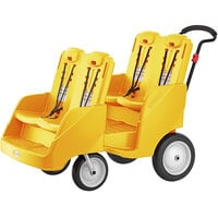 Foundations 4142319 Gaggle Parade 4-Passenger Yellow Daycare Buggy with 5-Point Harnesses, and EasyLoad Steps