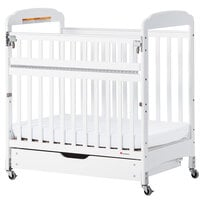 Foundations 4036122 EZ Store White Wood Sliding Crib Drawer with MagnaSafe Latch for Serenity Compact Cribs