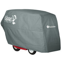 Foundations 4165257 Gaggle 87 13/16 inch x 33 inch x 47 3/8 inch Gray All-Weather Storage Cover for Parade 6-Passenger Buggies