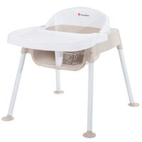 Foundations 4601247 Secure Sitter 11 inch White / Tan Feeding Chair with Non-Slip Feet