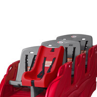 Foundations 4164077 Gaggle 12 inch x 20 1/4 inch x 20 inch Red Infant Seat with 5-Point Harness for Parade Buggies