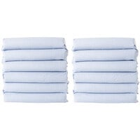 Foundations CS-SS-BG-12 CozyFit 20 inch x 50 inch Gingham Cotton Blend Sheet Set for Standard Cots - 12/Pack