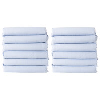 Foundations CS-TS-BG-12 CozyFit 20 inch x 40 inch Gingham Cotton Blend Sheet Set for Toddler Cots - 12/Pack