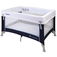 Foundations 1456037 Celebrity 24 inch x 36 inch Regatta Playard with SnugFresh Washable Cover, 3/4 inch Mattress, and Carry Bag