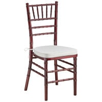 Lancaster Table & Seating Mahogany Chiavari Chair with Ivory Cushion