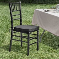 Lancaster Table & Seating Black Chiavari Chair with Black Cushion