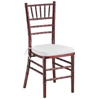 Lancaster Table & Seating Mahogany Chiavari Chair with White Cushion