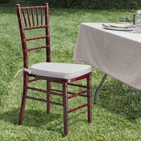 Lancaster Table & Seating Mahogany Chiavari Chair with Silver Cushion