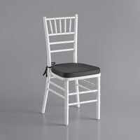 Lancaster Table & Seating White Chiavari Chair with Black Cushion