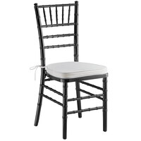Lancaster Table & Seating Black Chiavari Chair with Ivory Cushion
