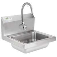 Regency 17 inch x 15 inch Wall Mounted Hand Sink with Waterloo Hands-Free Sensor Faucet