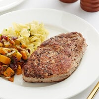 Hatfield Premium Reserve 10 oz. All-Natural Ribeye Pork Steak - 14/Case