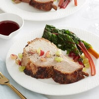 Hatfield Premium Reserve 7.6 lb. All-Natural Bone-In Center Cut Pork Loin - 6/Case